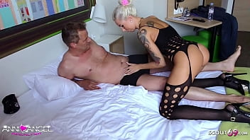 German Teen BJ and 69 Position with old Guy and Cum in Mouth 5 min