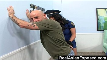 RealAsianExposed – Police asian bitch can't resist a rock-hard dick