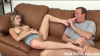 Lick my soles so I can give you a sloppy footjob pornhub video