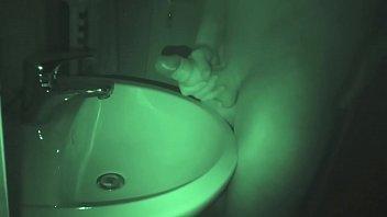 Nachts heimlich im Bad