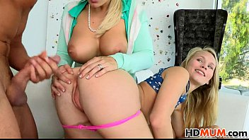 Mom Angel Allwood shares cock with Dakota James