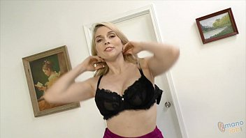 Christie Stevens jerking off a cock
