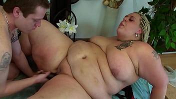 Blonde Fatty With Rasta Braids Gets Fucked