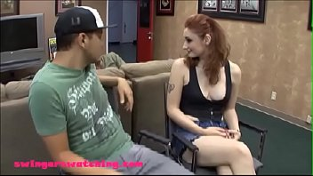 SwingersWatching.com white skin red haed teen wife banged while husband watches