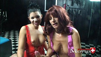 Nice tits ultimate - 2 bi-slaves amanda jane and shiva used by the perverse master