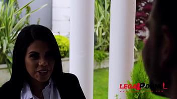 Curvy Latina maid Kesha Ortega lets boss bang her big tits and wet pink GP848