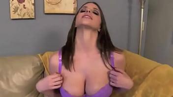 Busty Brunette sexy JOI Jerk Off Instructions