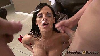 Monster cocks jerking of compilations 5 big tit milfs suck dick and get huge facials
