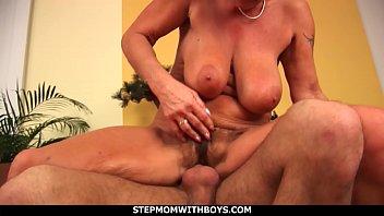 Stepmom With Boys Stepmom Sucks Tits Together With Stepson