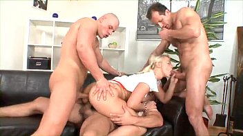 Tiny Blonde Teen Opens All Holes