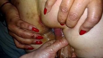 Fucking a mature Argentine married woman's ass, she alone gets my cock part 2, I fill her ass with milk