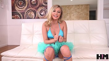 Hot petite Carolina Sweets takes 2 cocks in her pussy in 4 man IR gangbang 15 min