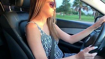 Fucking Dildo while driving