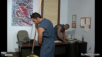 Gay fuck in the office Gay cleaning guys fucking in the office