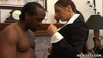 Experienced Cheyenne Hunter milks a BBC dry. thumbnail