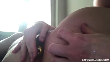 Aussie Sheila has Anal Buttplug Session