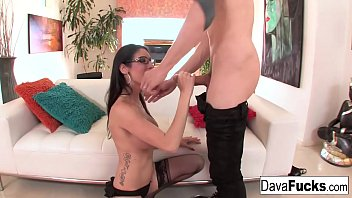 Brunette Dava Foxx takes on a big dick from Owen