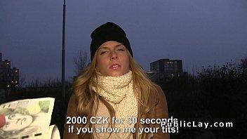 Euro blonde fucks in the public park