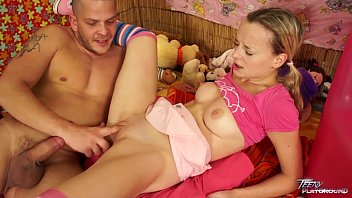 Teenyplayground Babysitter tight pussy wrecked by older man with big cock