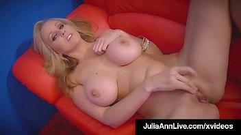 Pole Dancing Milf Julia Ann Finger Fucks Her Mature Muff! 8 min
