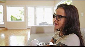 4K Tiny4K - Sexy tiny Dillion Harper loves fucking a gigantic cock porno izle