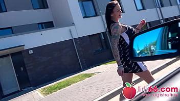 FILTHY tattoo MILF Julia Exclusiv enjoys a young cock THRASHING her twat! (ENGLISH) (FULL SCENE) Flirts66.com