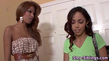 Real ebony lesbians Lesbo ebony stepsis lick