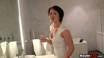 Amateur brunette has first anal adventure Evelyn Lacie 1 3