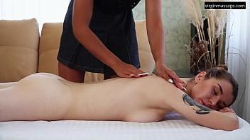 Nina Lizalaks gets first time massage super hot
