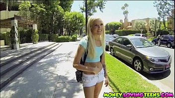 School girl Halle Von convinced to have sex with a stranger for money