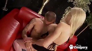 British MILF Cindy Behr Spreads Her Legs And Sits On A Hard Boner