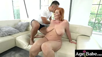 Redheaded granny Tammy loves big big dicks like Mugur has
