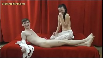 Cougar Plays With A Young Boy (Blowjob & Fingering)