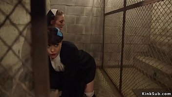 Bas sinner is anal fucked by nun lezdom