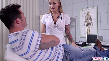 Porn video nurse Busty doctor kayla green footjobs her patients cock until he busts a nut