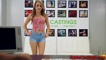 Gorgeous teen fucked at b. casting 10 min
