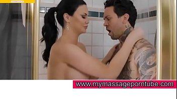 Big boob german gives hot tit job at time of oil massage for mymassageporntube.com 3 min