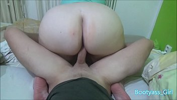 Horny Chubby with Big Ass Rides on My Cock