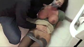 Ultra Hot Milf Tied Up and Fucked by a Burglar