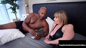 Thick Latina Angelina Castro & PAWG Milf Sara Jay Fuck BBC!