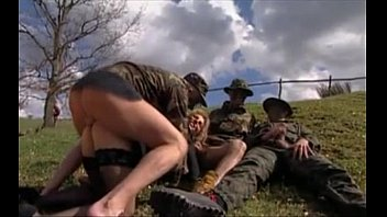 Army wifes naked - Girl gangbanged in grass by military men