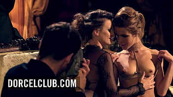 Claire Castel & Alexis Crystal: hot iconic french duo for 3 lucky guy
