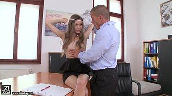 Rebel Lynn has orgasms on her boss' dick