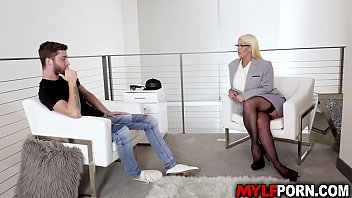 Busty MILF Alura Jenson is a licensed sex therapist. She gave her client Dylan Snow a hot fucking session that he will never forget.