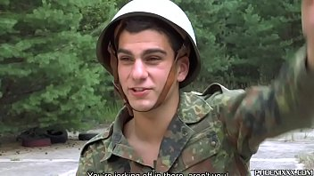 Gay military stories free dick Young gays in uniform exchange blowjobs on the roadside