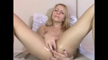 Hot Blonde Relentlessly Masturbates and Moans her Wet Pussy - www.trixxxycam.com thumbnail