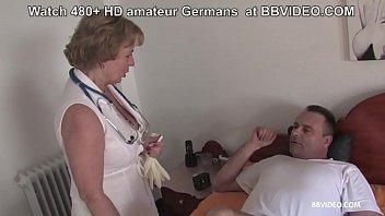 Mature nurse takes genital temperature and fucks her patient