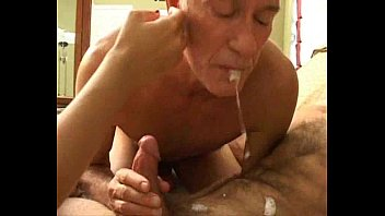 Grandpa's bisexual fun with younger couple