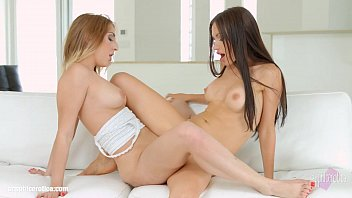 Sensual lesbian love by Sasha Rose and Jimena Lago at SapphiX