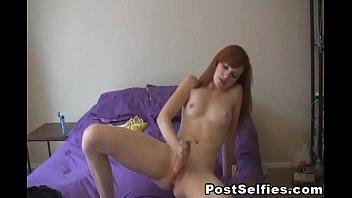 Naked red head Red head hot babe masturbating
